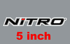 """5"""" Nitro High Quality Decal Sticker Tackle Box Fishing Boat Trailer Truck lures"""