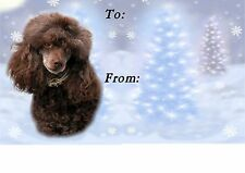 Poodle Dog Christmas Labels by Starprint - No 6
