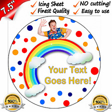 """MR TUMBLE PERSONALISED QUALITY Edible Icing Cake Topper 7.5"""" FIRST CLASS POST"""