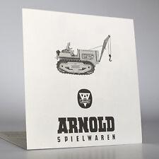 ARNOLD  - Traktor- / Raupe  Bauanleitung, Metall- /Blech Spielzeug als Nachdruck