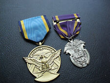 Lot of 2 Military Medals with Ribbons ROTC and Military Merit