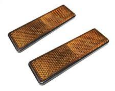 2x Reflektor Katzenauge Rechteck Orange Selbstklebend mit E-Prüfzeichen
