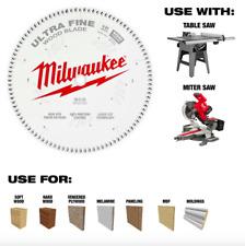 Milwaukee 12 inch 100 Teeth Fine Finish Circular Saw Blade Wood Cut Table Miter