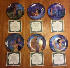 Bradford Exchange Disney Pocahontas Collector Plates - Complete Set of 6