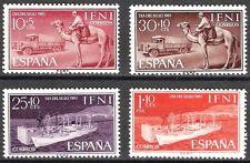 Colonias españolas Ifni 1961 Día del sello barco Camel camión camión 183 - 186 estampillada sin montar o nunca montada Fino