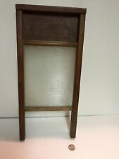 "antique childs washboard ""ribbed Glass"" 18"" X  8-1/2"""