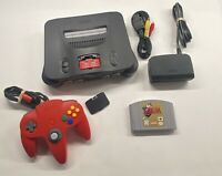 Nintendo 64 Console with Zelda Ocarina Of Time, Expansion PAK Red Controller N64