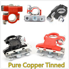 1 Pair Universal Pure Copper Tinned Car Battery Terminal Connector Cable Clip