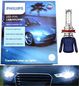 Philips Ultinon LED Kit 6000K White H8 Two Bulbs Fog Light Replace Upgrade Lamp
