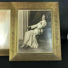 BEAUTIFUL Vintage Embossed Metal Photo Picture Frames Match Set Floral 24k Plate