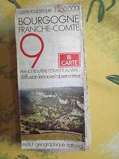carte IGN touristique serie blanche 9  bourgogne franche comté 1976 *