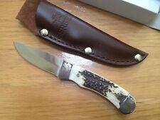 GERBER WALLOWA CAPER GENUINE STAG DROP POINT FIXED BLADE KNIFE G1840 NEW BOX