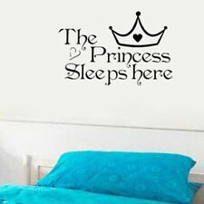 Baby Girl Kids Home Wall Sticker Decoration Rooms Wall Decals Princess Quote