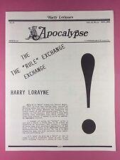 Harry Lorayne's APOCALYPSE - Magicians Newsletter  Vol.15 / No.11 - 1992 - Magic