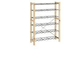 IKEA IVAR Element/Flaschenbord,Kiefer,grau,89x30x124cm,Regaleinsatz für Flaschen