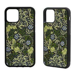 William Morris Green Seaweed iPhone Rubber Case 12 Mini,SE 2020,11Pro Max,XR,8/7
