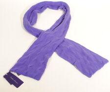 "Ralph Lauren Purple Label Cableknit 100% Cashmere Scarf Italy 68"" Puple $595 E3E"