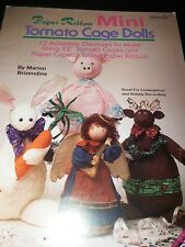 PAPER RIBBON MINI TOMATO CAGE DOLLS - 12 DESIGNS PIG ANGEL BUNNY CRAFT BOOKLET