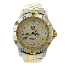 TAG HEUER 1500 SERIES 955.713K-2 PROF TAUPE DIAL 2-TONE GOLD PLATED+S.S. WATCH