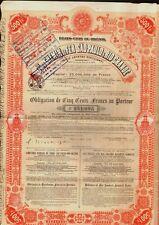 BRAZIL RAILWAY SAO PAULO &  RIO GRANDE 1905 uncancelled dividend coupons