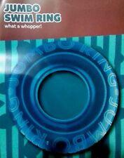 "Jumbo Kid Inflatable Ring Beach Swimming Pool Water Float Summer 28""- Blue"