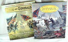 Mort Kunstler Hardbound 1st Edition Books Gods & Generals / Gettysburg w/ DJ