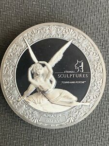 Palau 2016 $10 CUPID AND PSYCHE Eternal Sculptures Canova Nice 2 Oz Silver Coin