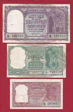 INDIA 10 5 2 RUPEES