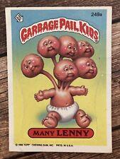 ⭐️ Garbage Pail Kids 1986 Many Lenny sticker card Topps (BIN001) 🎏