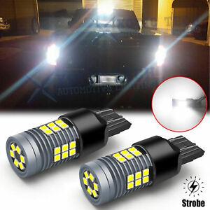 LED 7443 Strobe Blinking Flashing Reverse Light Bulb 6K for Chevy Safety Warning