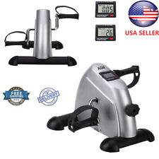 Mini Pedal Exerciser Cycle Bike Leg Arm Desk Gym Home w/LCD Display Fitness