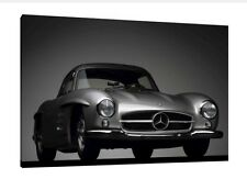 Mercedes 300 SL Gullwing - 30x20 Inch Canvas - Framed Picture Print Art