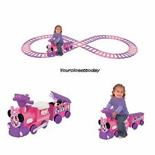 NEW Ride On Pink Minnie Mouse Train Track Battery Motorized Music Toy Girls Gift