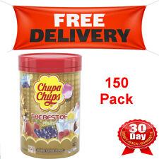 NEW Chupa Chups 150 Lollipops Bulk Lollies Jar Famous Flavours FREE POSTAGE