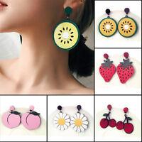 Large Fruit Strawberry Pineapple Drop Dangle Hook Earrings Women Jewelry Z0HWC