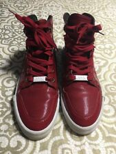 Shmack Shoes Crowbar Patent Leather Hi Stars Athletic Red Sneakers Size 10.5