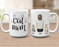 Custom Cat Mom Mug Cat Mother Mug Cat Mom Gift Cat Lover Gift Best Friend Mug