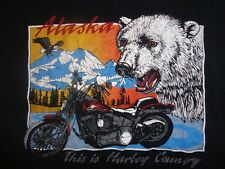 Vintage This is Harley Davidson Country FXSTS Springer XL Tshirt Polar Bear AK
