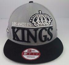 Rare LOS ANGELES KINGS Cotton Crown Snapback Hat New Era 9FIFTY Vintage Hockey