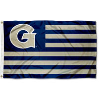 Georgetown University Hoyas Stars and Stripes Nation USA Flag