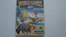 JUEGO WORLD GAMES EN CAJA GRANDE SPECTRUM SINCLAIR 48K ZX UK.