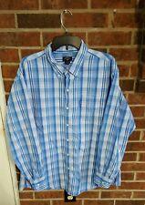 U.S. Polo Assn. Blue & White Striped Long Sleeve Dress Shirt Size XL