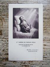 IMAGE PIEUSE ANCIENNE : Sainte Thérèse de l'E. Jésus exhalant le dernier soupir