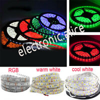 DC12V 1M 5M SMD 5050 RGB white Waterproof 300LED Flexible 3M Tape Strip Light