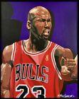 Bill Lopa Original Michael Jordan Painting Framed Chicago Bulls Artwork