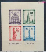 Franz. Zone-Baden Block1B postfrisch 1949 Freiburg (8162250