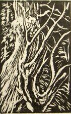 Original woodcut engraving 'Tree Study' Henry Clarence Whaite, 1920's