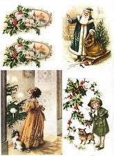 Carta DI RISO PER DECOUPAGE SCRAPBOOKING sheetscraft Vintage Natale 3