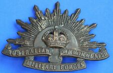 More details for ww1 ww2 australian commonwealth military forces cap badge       [22218]