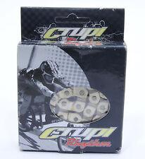 """CRUPI/RHYTHM Half Link Solid Pin Chain 3/32"""" Silver"""